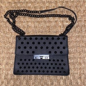 Foley & Corinna Black purse with spikes and chains
